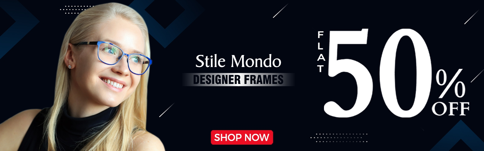 Flat40% Discount on Branded Stile Mondo frames