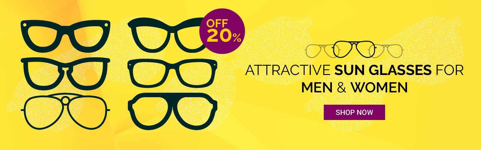 Attractive Sun Glasses for Men & Women